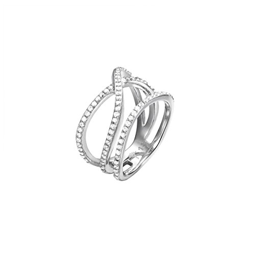 Joop! Damen-Ring rhodiniert Zirkonia weiß Gr. 56 (17.8)-JPRG00796A180