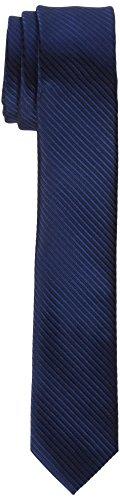 Blau Gestreiften Krawatte (James Tyler Herren schmal, handgefertigt Krawatte,,per pack Blau (Blau gestreift Blau gestreift),5)