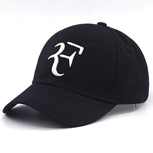 TTXSKX Tennis Star Roger Federer Sport Cappellino da Baseball in Cotone 3D Ricamo F Cappello Snapback Cappellini Casual da Viaggio per Cappelli da Tennis da Viaggio