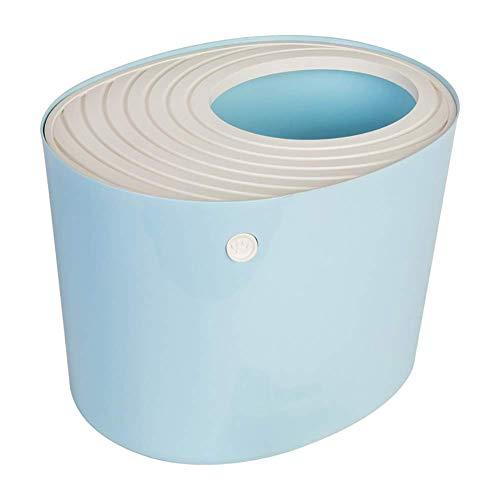 Geschlossen Katzentoilette, Top Eingang Leakproof Deodorant Katzentoilette mit Katzenstreu Schaufel, Rosa ccgdgft (Color : Blue)