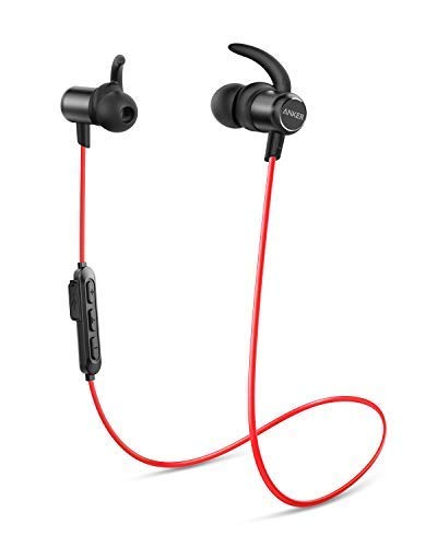 Anker Cuffie Sportive Soundbuds Slim, Auricolari in-Ear Bluetooth Leggere e Senza Fili, Resistenti all'Acqua IPX5, con Microfono, per iPhone, iPad, Samsung, Nexus, HTC e Altro.