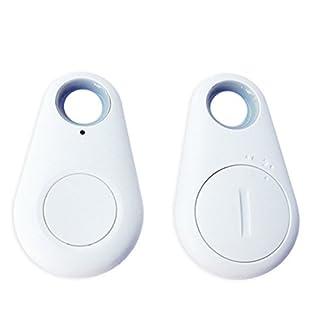 Kabellose Bluetooth-Tracer GPS Locator Kind Pet Tasche Geldbörse Schlüssel Finder Alarm Tag, Weiß