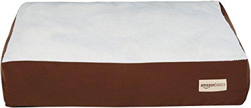 AmazonBasics - Cama para mascotas con almohada, L