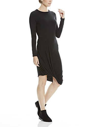 Bench Drape Dress, Robe Femme Schwarz (Black BK022)