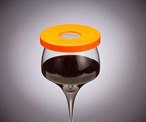 Wine-Tapa Wein Tapa Weinglas Cover: Halten Bugs auswaschbar Kunststoff Außen Getränk Deckel Marker für Gläser Dosen Cups Stemless Trinkgefäße 1 Mandarine (Wine Cup Markers)