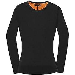 per T-Shirt Mujeres Manga Larga Invierno Camisas Mujer Térmicas Invierno de Calefacción USB elásticas Ropa Interior para Invierno