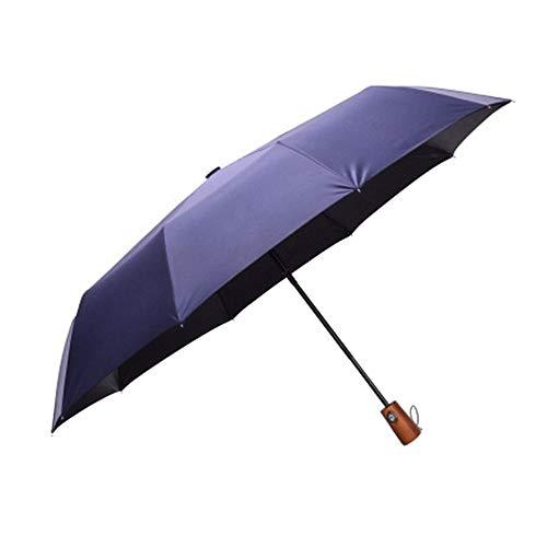Folding Umbrella Männer Frauen 10 Kastagnetten automatische Öffnen und Schließen 210T High Strength Strong Sommer starker Wind Repellent Wasserabweisend Regenschutz Maßnahmen aus Holz Hand Modische Le