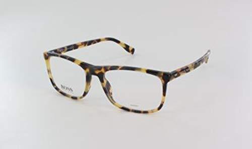 BOSS Hugo Unisex-Erwachsene Hugo Orange Brille Brillengestelle, Schwarz, 56