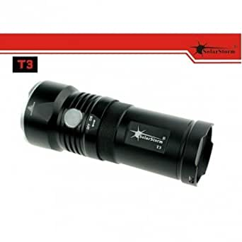 Bheema t3 solarstorm 3 * Cree XM-L u2 2700lm 4 LED en mode lampe de poche 3 * 18650