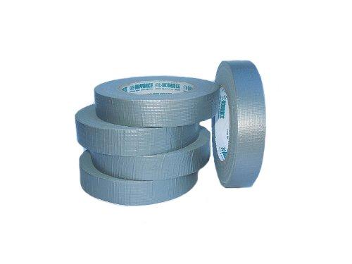Gewebeband | Steinband, silber, stark klebend, 25 mm x 50 m, 5 Rollen