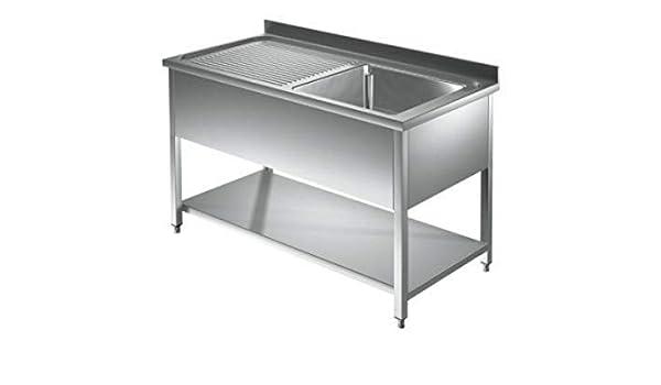 Spültisch 1 Becken M 0,8 x 0,7m Edelstahlspültisch Edelstahl Gastro Spüle Tisch