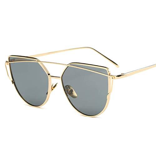 YHEGV Europa und die vereinigten staaten trend persönlichkeit sonnenbrille edelstahl strahl sonnenbrille damen true color film sonnenbrille
