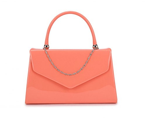 Papaya Fashion brevetto sera borsa Pink