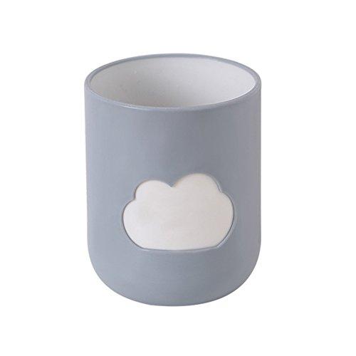SMARTRICH - Tazas de Paja de Trigo para Cepillo de Dientes de Agua Saludable e irrompible para Pareja, 3, 10 * 8.2cm