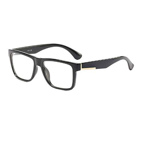 Yefree Retro Quadrat Brille Rahmen Optisch Brillen klar Linsen zum Frau und Männer
