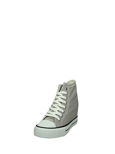 CAF DG900 NOIR Les chaussures gris milieu sheakers coin interne femme de tissu Grigio
