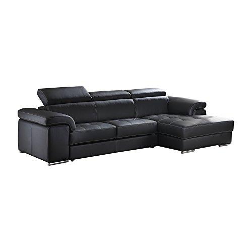 Casarreda divano letto angolare lucky con penisola dx rivestito in ecopelle