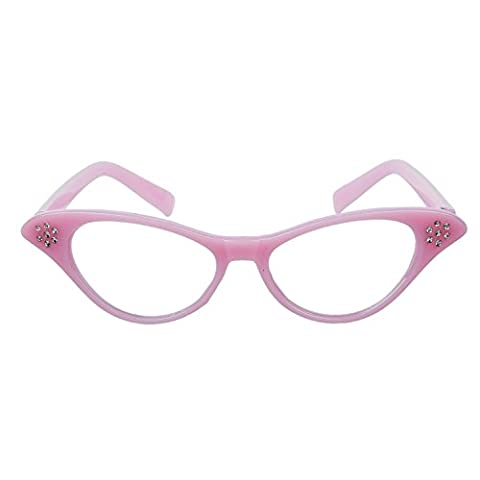 Pink Lady Rose - WMA Lunettes rock and roll Grease années