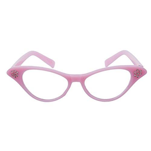Timagebreze Pinke Brille von Retro-Stil in 1950s