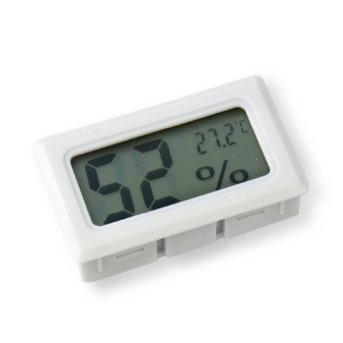 RHX Digitales LCD-Messgerät für Temperatur und Luftfeuchtigkeit, Weiß