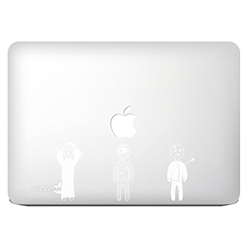 Adesiviamo Aufkleber sticker Halloween Voodoo Friends Vinyl Decal per tutti i modelli di MacBook