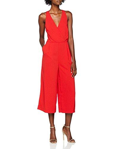 Warehouse Damen Jumpsuit V Neck Red 12), 38