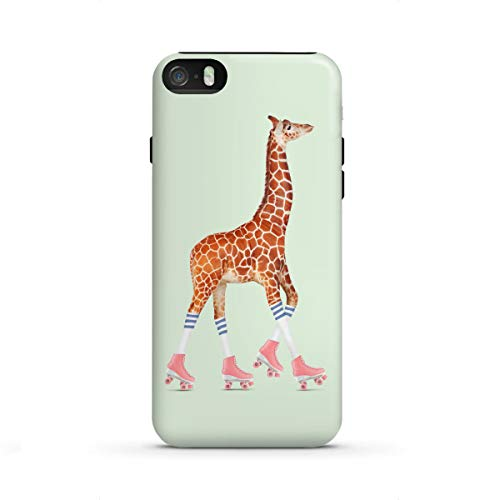 artboxONE Apple iPhone SE Tough-Case Handyhülle Rollerskating Giraffe von Jonas Loose