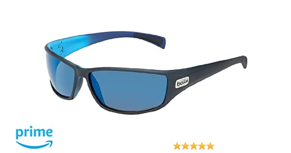 246ff4a650293b Bolle Python Polarized GB10 Oleo AF Sunglasses - Mat Black Blue   Amazon.co.uk  Sports   Outdoors