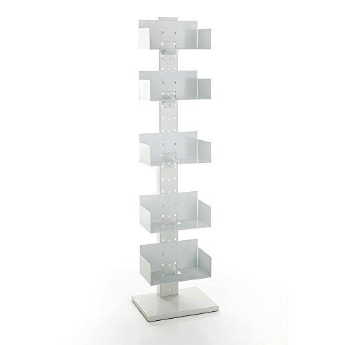 Tomasucci Fusion libreria in metallo bianco