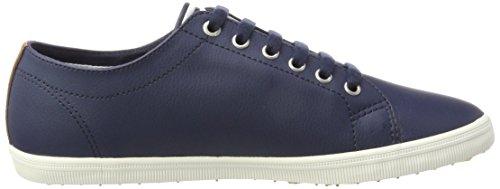 Fred Perry Herren Kingston Leather Oxfords, Weiß, 40 EU Blau (Carbon Blue)