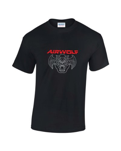 Vintage Airwolf 80s TV Series T-Shirt for Men - S to XXL