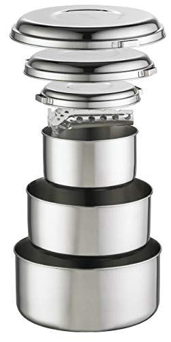 MSR (Mountain Safety Research) Kochgeschirr Alpine 4 Pot Set, Silver, One size, 21721 -