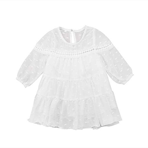 Pwtchenty Dresses for Girls Bekleidung Baby Kinder Kleinkind Mädchen Chiffon Kleider Kurzarm Sommer Drape Prinzessin Kleid Tüll ()