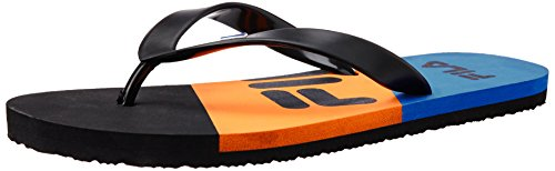 Fila Men's Tricolor Black, Orange And Blue  Flip Flops Thong Sandals -6 UK/India(40 EU)(7 US)  available at amazon for Rs.324