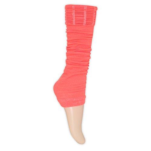 (adam & eesa Farbenfrohe Stulpen für Damen 1 2 oder 3 Paar Tanzstulpen Sport 80er Jahre)