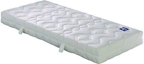 Badenia 03888360235 Irisette Bettcomfort Matratze Lotus, Tonnentaschenfederkern Polyester, 210 x 100 x 20 cm, weiß