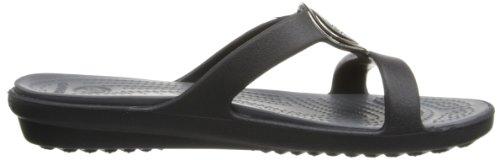 Crocs Sanrah Kreis Sandale Black/Charcoal