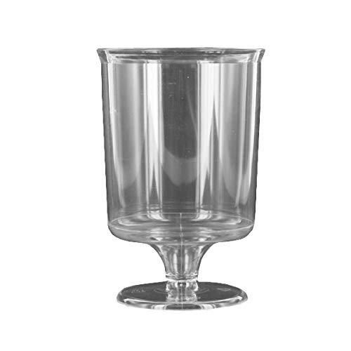 240 verres à pied jetables plastique transparents