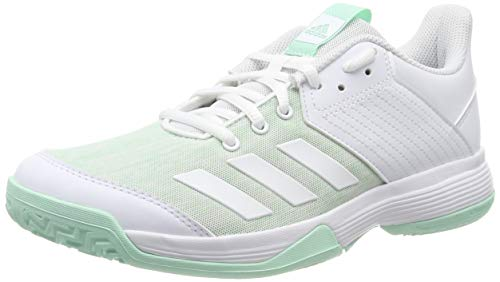 adidas Unisex-Kinder Ligra 6 Youth Volleyballschuhe Weiß (FTWR White/Clear Mint), 38 EU