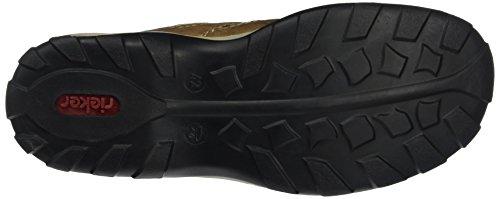 Rieker 08065 Sneakers-Men, Scarpe da Ginnastica Uomo Marrone (Braun (zimt/reh/schwarz / 24))
