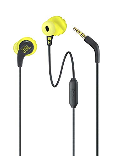 (Renewed) JBL Endurance Run Sweat-Proof Sports in-Ear Headphones with One-Button Remote and Microphone (Yellow)