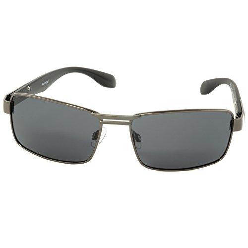 City Vision Polarisierte Herren Sonnenbrille Elegant Retro 21643 Schwarz Grau