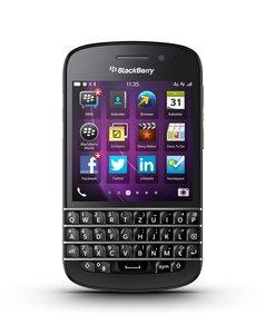 Blackberry Q10 Smartphone (7,9 cm (3,1 Zoll) AMOLED, Cortex-A9, Dual-Core, 1,5GHz, 2GB RAM, 16GB, 8 Megapixel Kamera, QWERTZ, BlackBerry 10 OS) schwarz [T-Mobile-Branding]