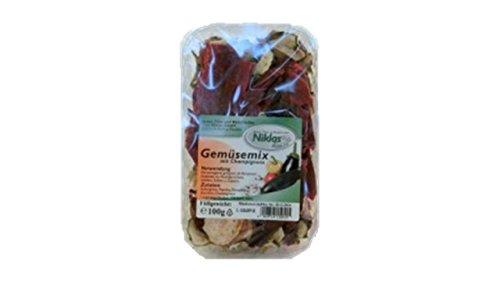 Gemüsemix mit Champignons in Scheiben / getrocknet - 75g   Getrocknet, Getrocknetes - Hundefutter Gemüseflocken