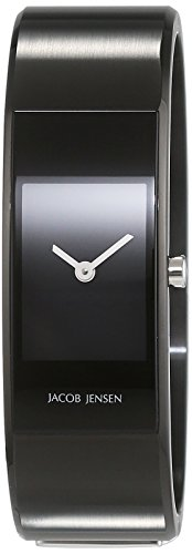 Jacob Jensen Womens Analogue Quartz Watch with Stainless Steel Strap Eclipse Item NO. 443
