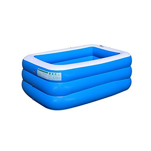 Jwr protezione ambientale per bambini grande giardino esterno pieghevole piscina coperta pvc gonfiabile rettangolare, varie dimensioni,150cm