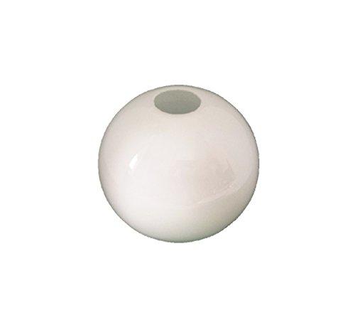 12.5cm diamètre Verre Blanc Sphériques Abat-jour Suspendu. Circonférence: 39cm, Petit trou (haut): 3.1cm dia., Grand trou: 9cm dia. [éclairage lumière ballon rond sphère remplacement lustre globe]