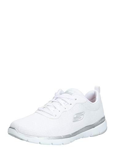 Skechers 13070/WSL Appeal 3.0-First Insight Damen Sneaker weiß/Silber, Größe:37, Farbe:Weiß