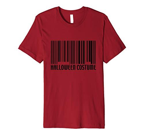Funny Generic Halloween-Kostüm Barcode T-Shirt