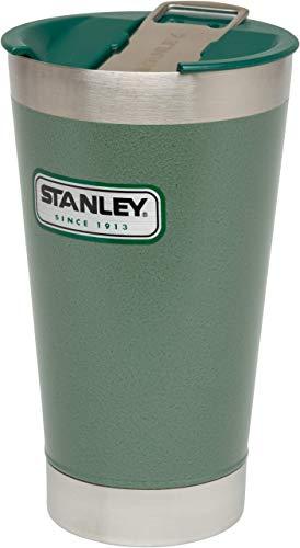 Stanley Legendary Classic Thermo-Trinkbecher inkl. Flaschenöffner und Deckel, 0.47 L, Hammertone Green, 18/8 Edelstahl, vakuumisoliert, Trinkbecher Isolierbecher Kaffeebecher